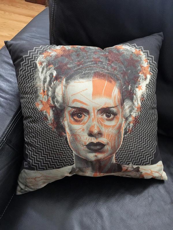 """    THE BRIDE"" pillow"