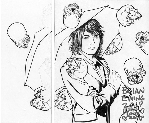 """    UMBRELLA ACADEMY - GERARD WAY"" Original Art 2"
