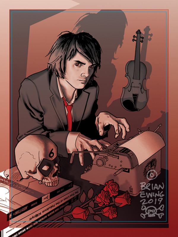 """    UMBRELLA ACADEMY - GERARD WAY"" ORIGINAL ART 3"