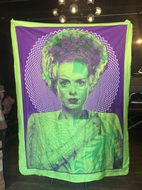 """    BRIDE"" Gruesome Green X-LARGE BLANKET"