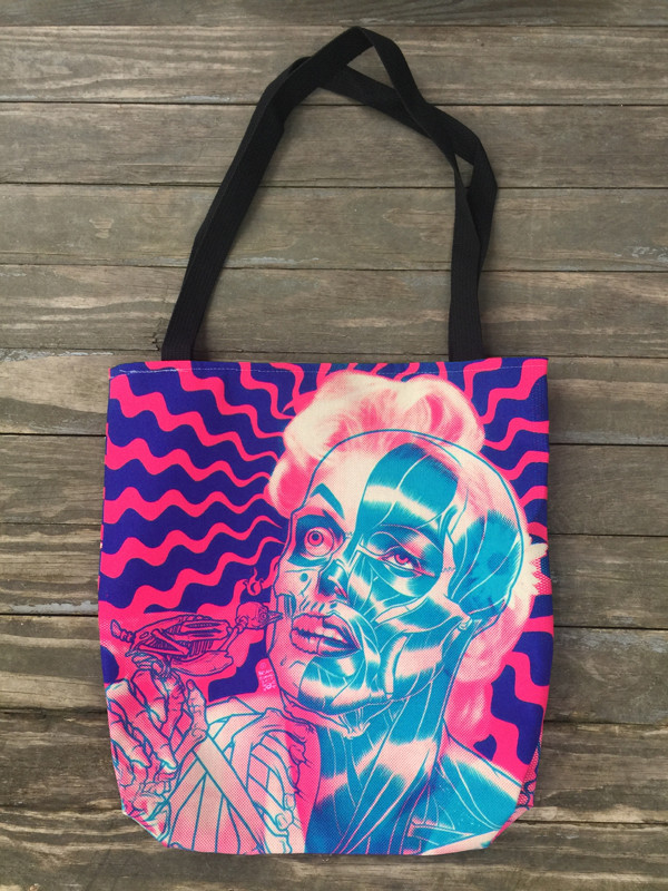 """     MARILYN"" Bubblegum Tote Bag"