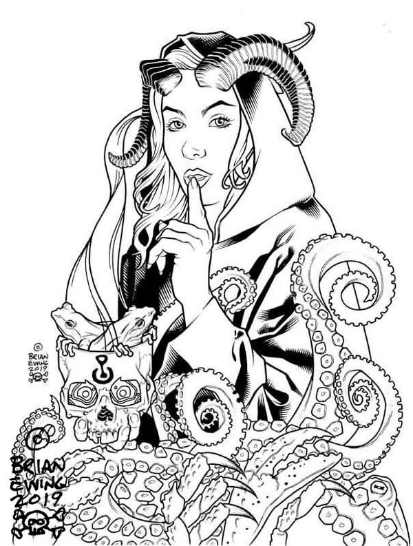 """     SCARLET WOMAN"" original art"