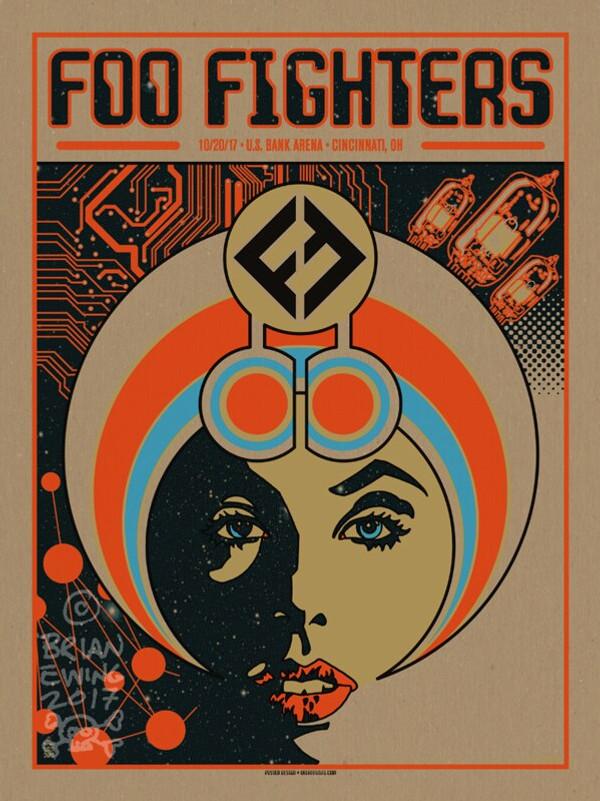 """   FOO FIGHTERS"" Cinci Pulp ARTIST PROOF"