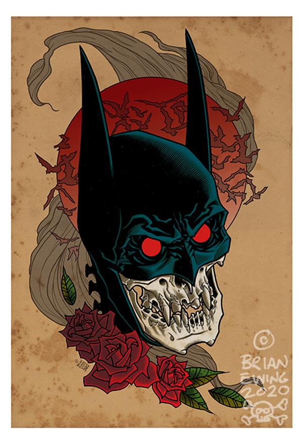 """          BATMAN RED RAIN"" giclee"