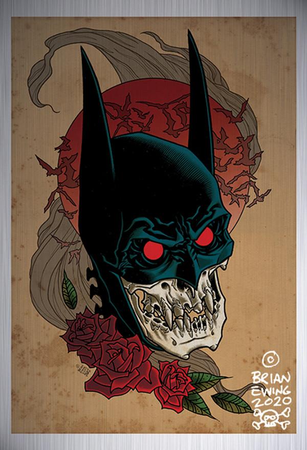 """""""          BATMAN RED RAIN"""" metal giclee A/P"""