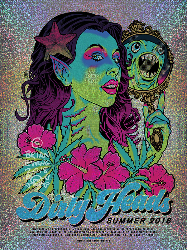 """""""   DIRTY HEADS"""" 2018 FOIL 6 DINGED!!!"""