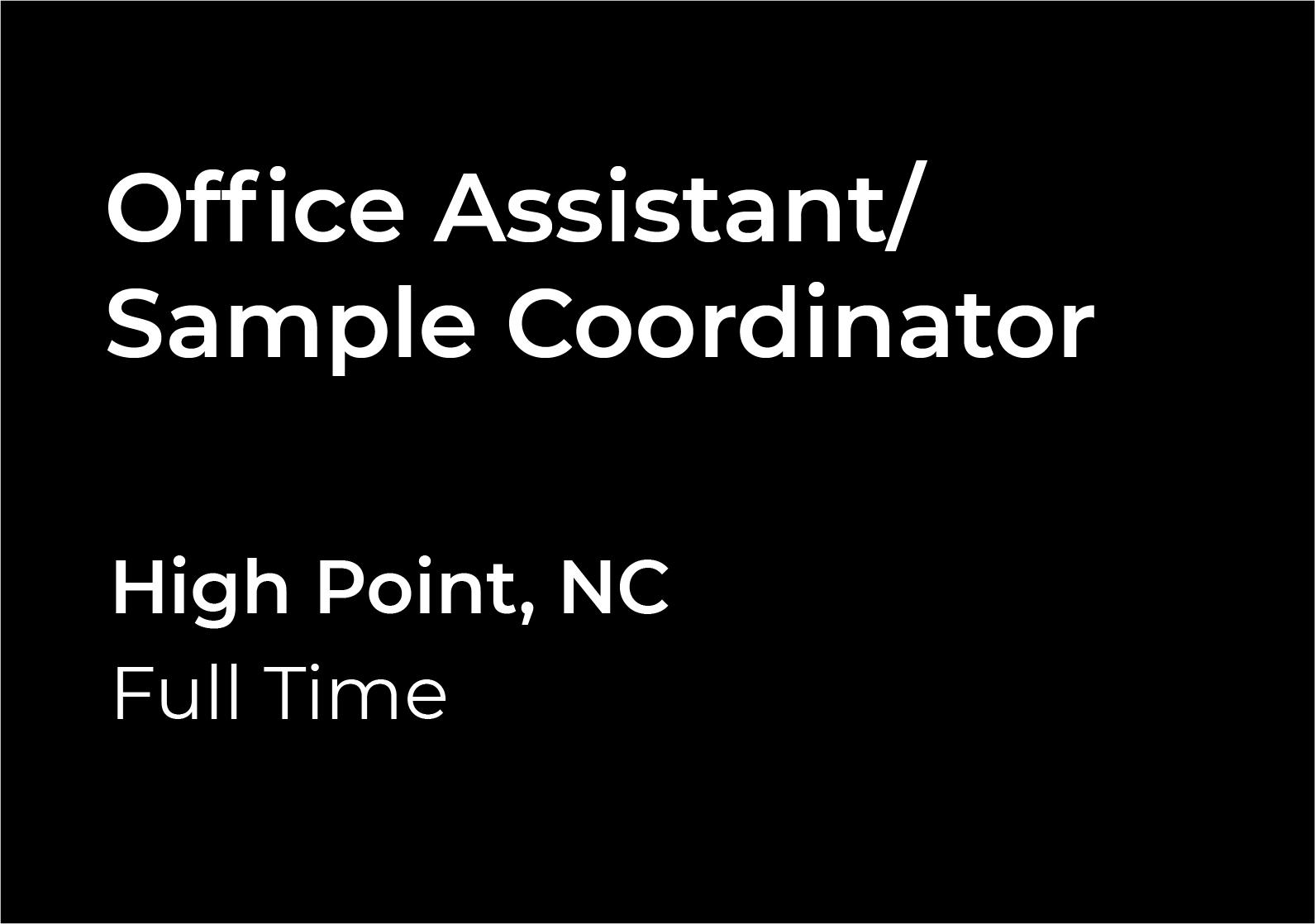 Office Assistant Sample Coordinator