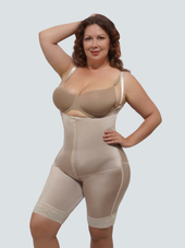Plus Size Open Butt Lifter Body Shaper With Tummy Control and Removable Straps