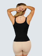 Zipper waist trainer vest with adjustable straps and hooks