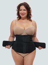 Workout Zipper Waist Trainer for Sweating (double Belt)