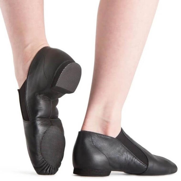 S0499L Bloch Black Elastaboot Jazz Shoe