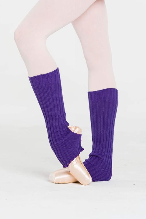 Dark Purple Ankle Warmers 40cm