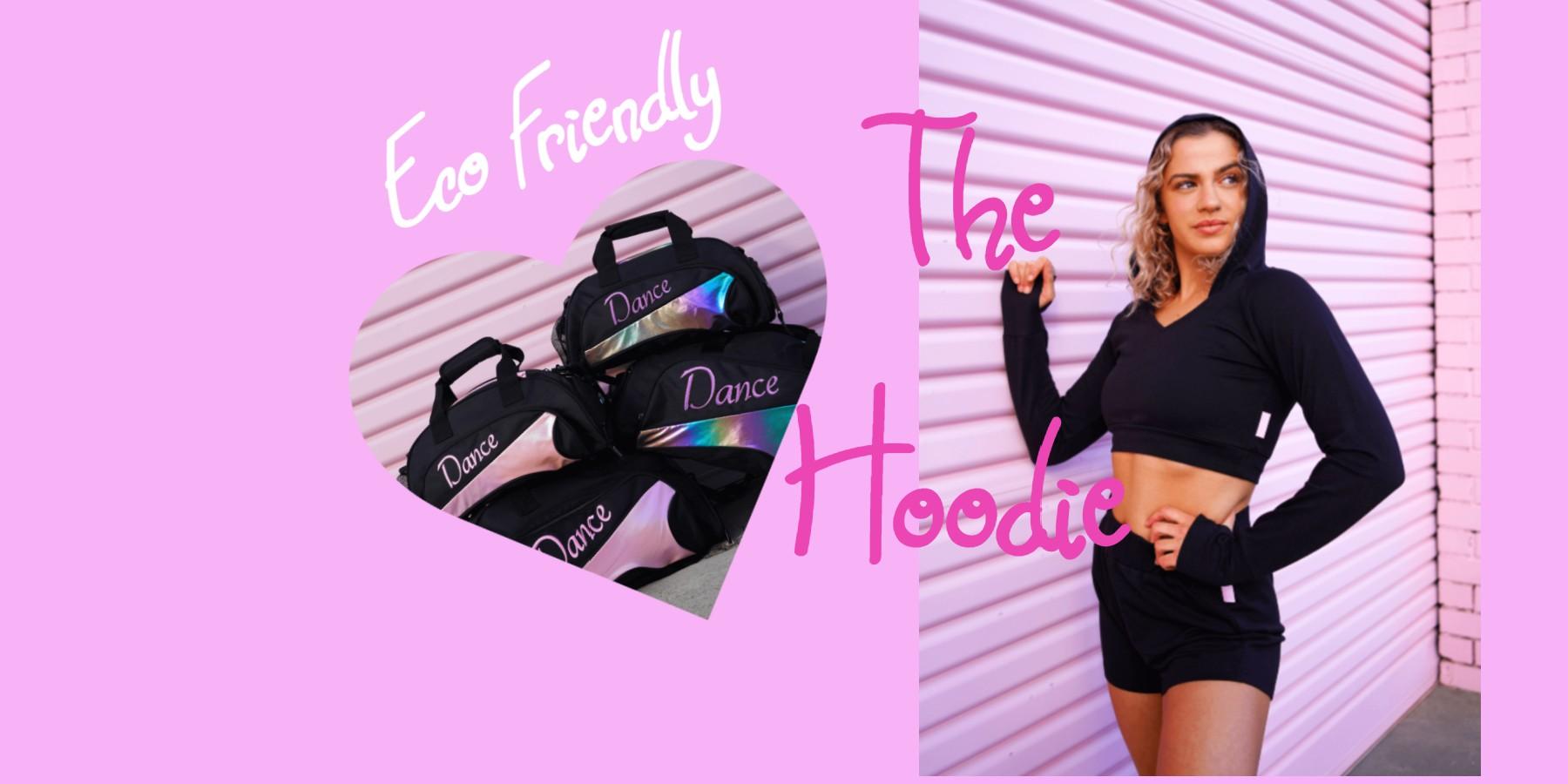 black dancewear hoodie