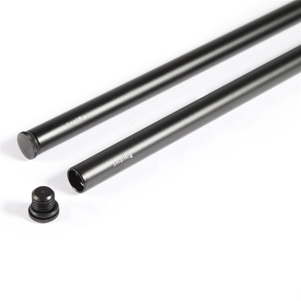 2pcs 15mm Black Aluminum Alloy Rod(M12-45cm) 18inch 1055