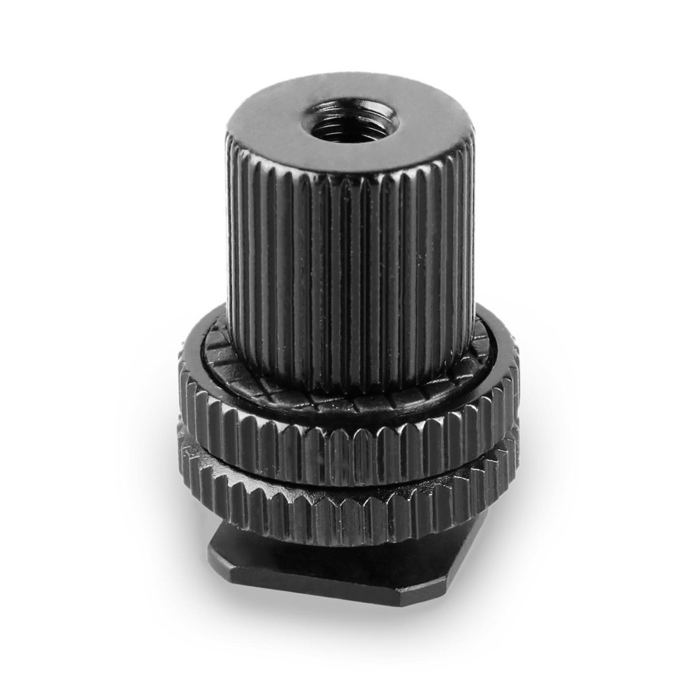 SMALLRIG 1/4'' Thread Cold Shoe Adapter with 1/4'' Thread Barrel Nut 1562