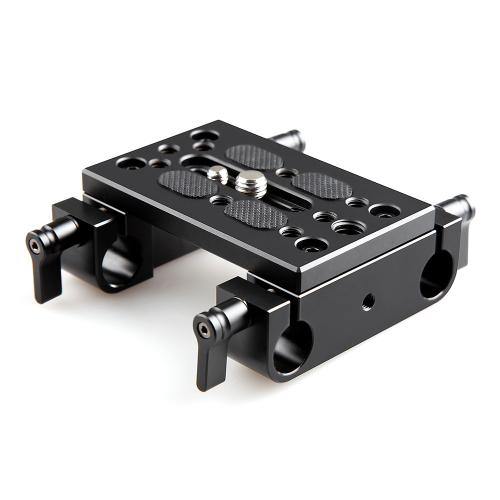 SMALLRIG Mounting Plate with 15mm Rod Clamps 1775