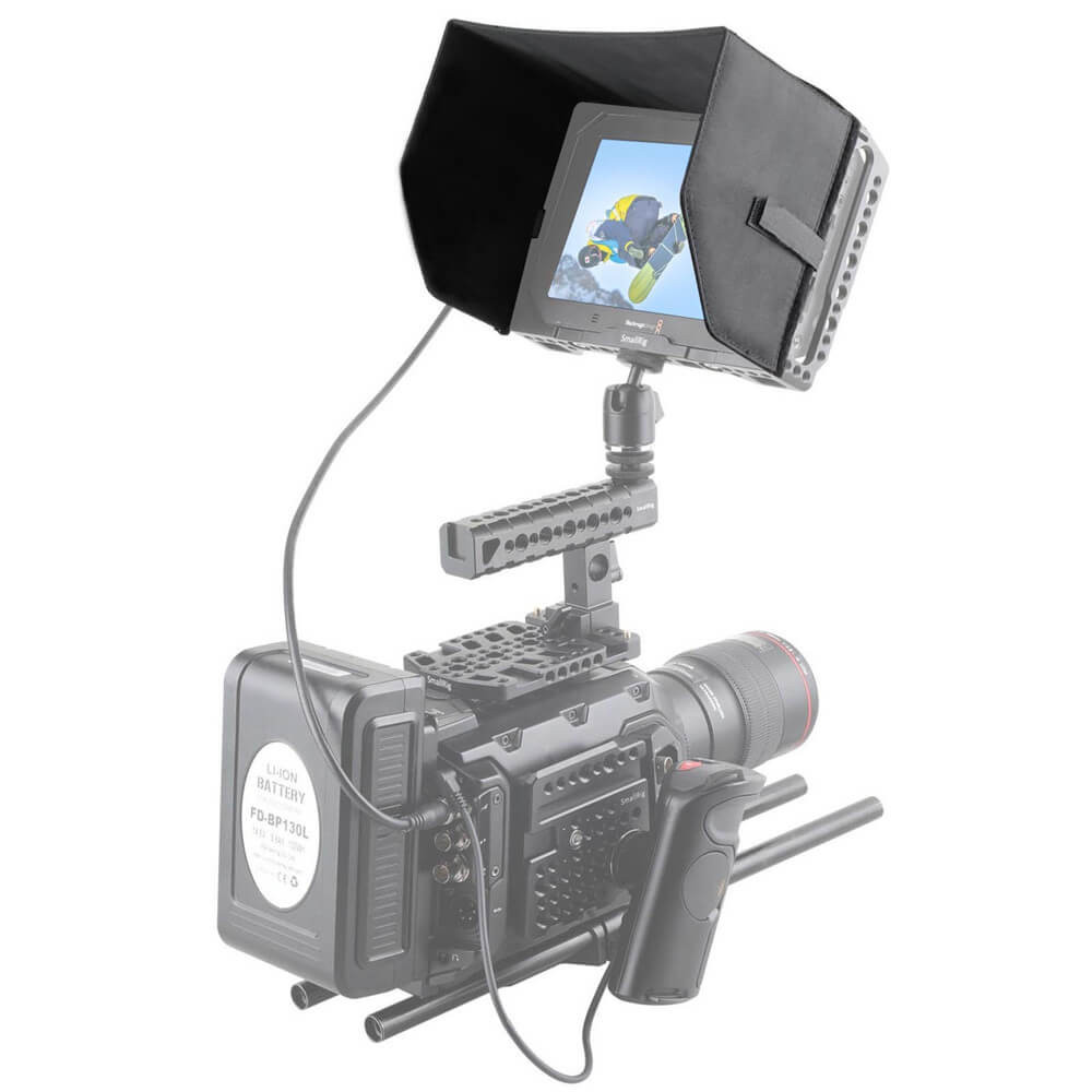 """SmallRig 7 Inch Sun Hood for Blackmagic Video Assist 7"""" Cage 1840"""