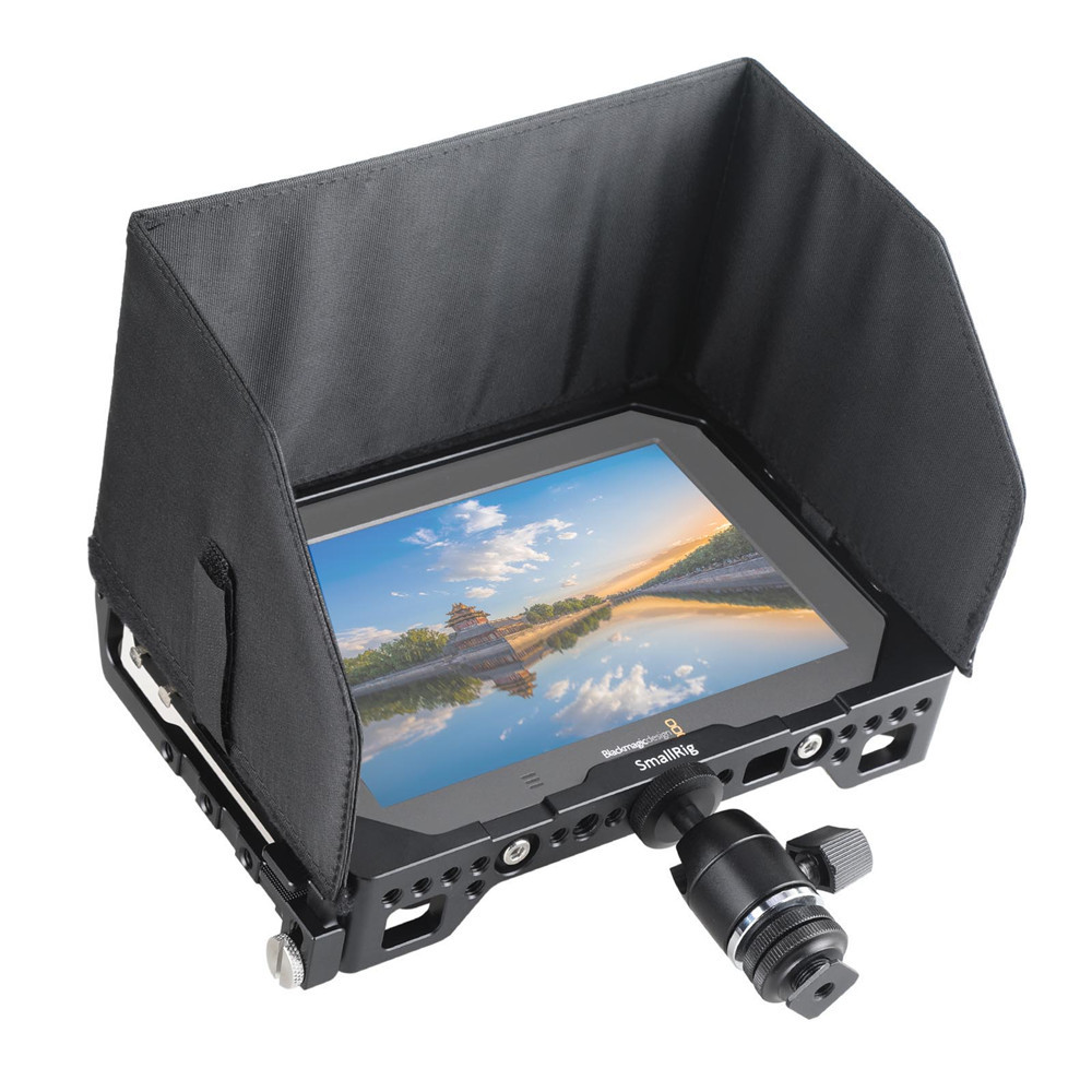 """SMALLRIG 7"""" Monitor Cage with Sunhood for Blackmagic Video Assist 1988"""
