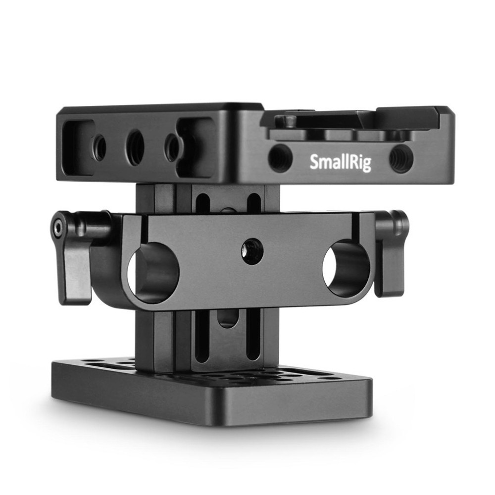 SmallRig Baseplate (Manfrotto) with 15mm Rail Support System 2039