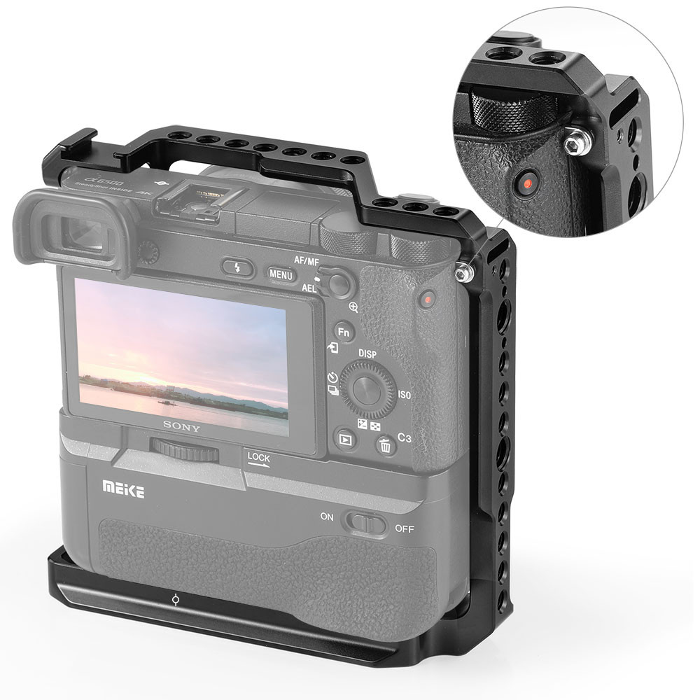 SmallRig Cage for Sony A6000/A6300/A6500 with Meike MK-A6300/A6500 Battery Grip 2268