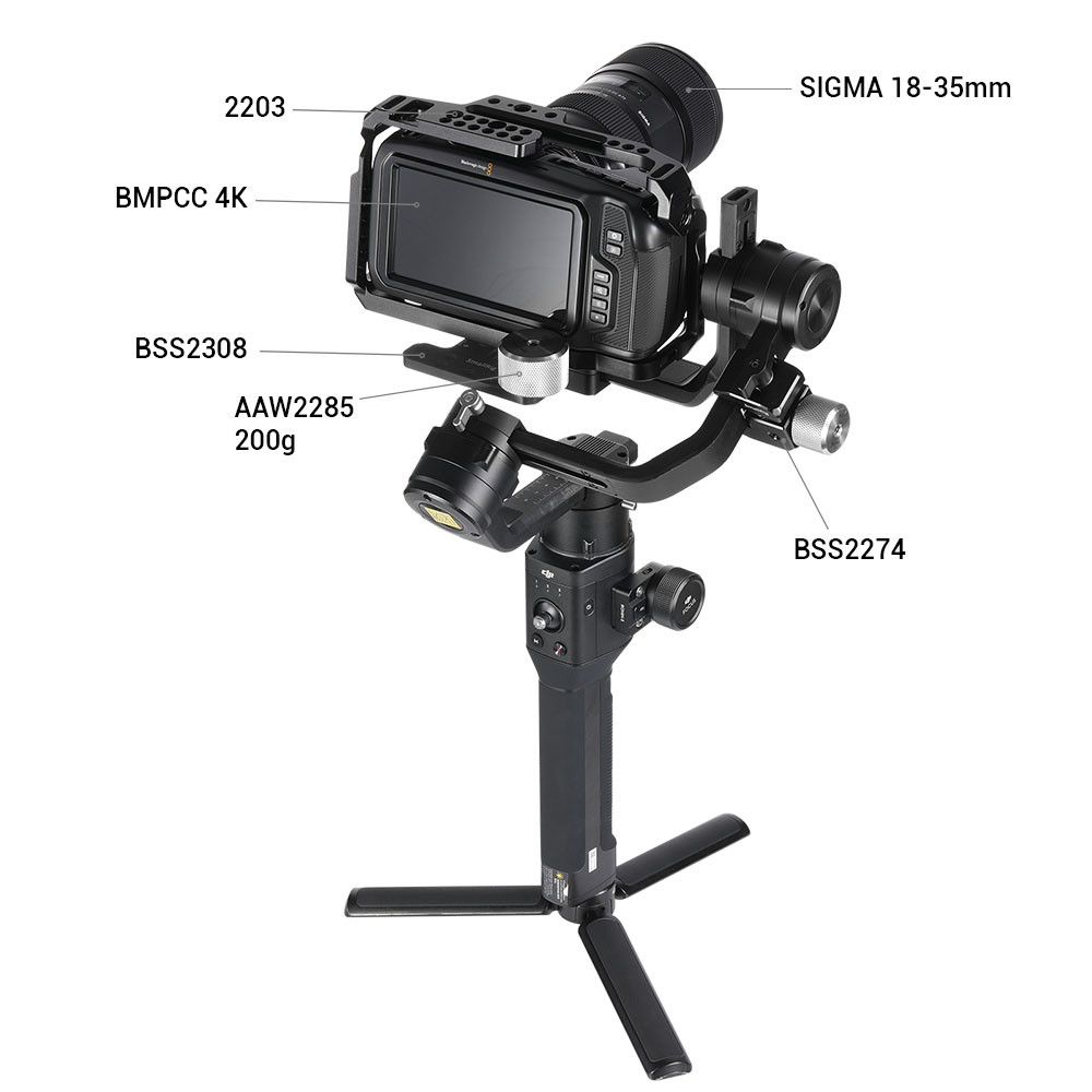 SmallRig Counterweight Mounting Plate (Manfrotto 501PL) for DJI Ronin S BSS2308