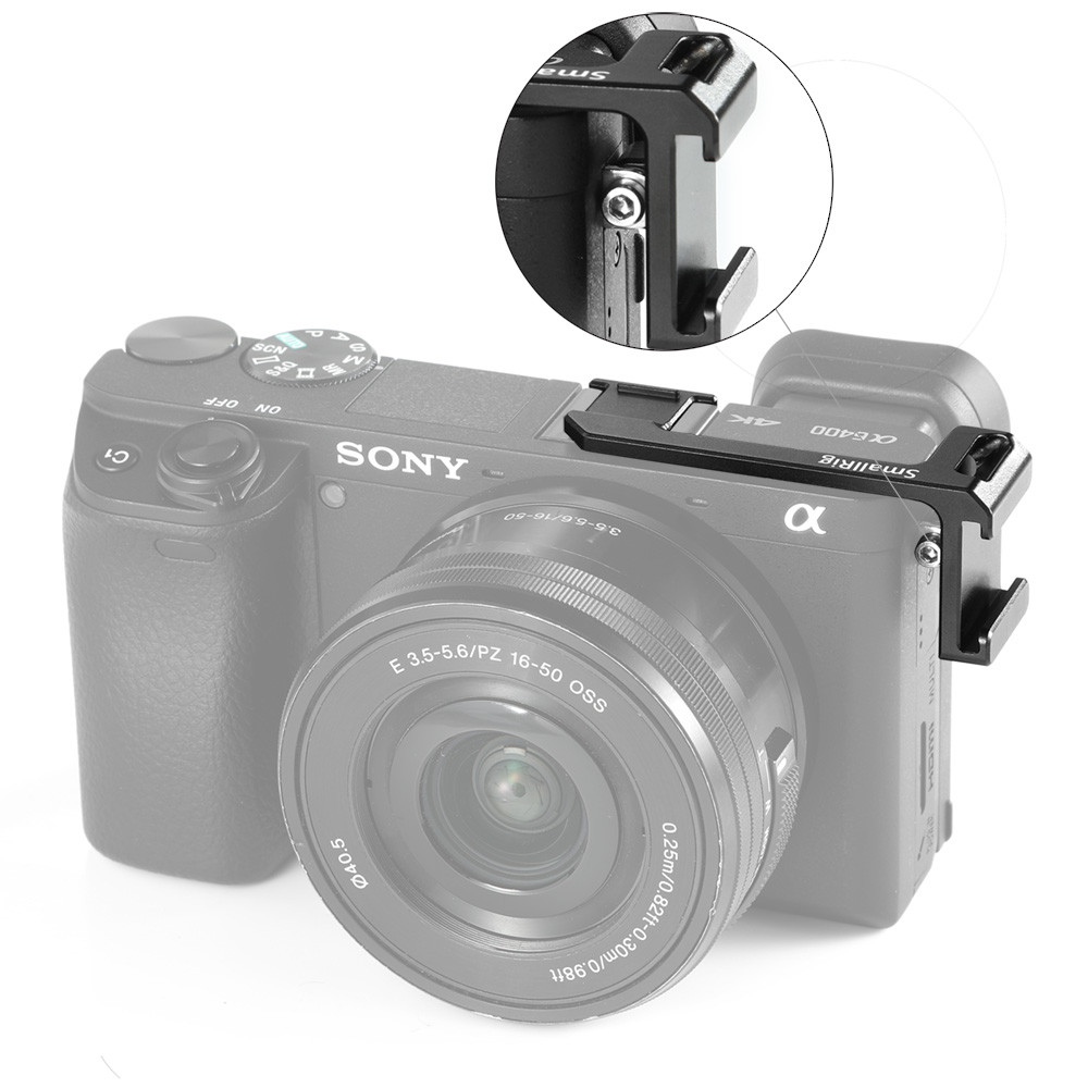 SmallRig Cold Shoe Adapter(Left Side)for Sony A6100/A6000/A6300/A6400/A6500 BUC2342