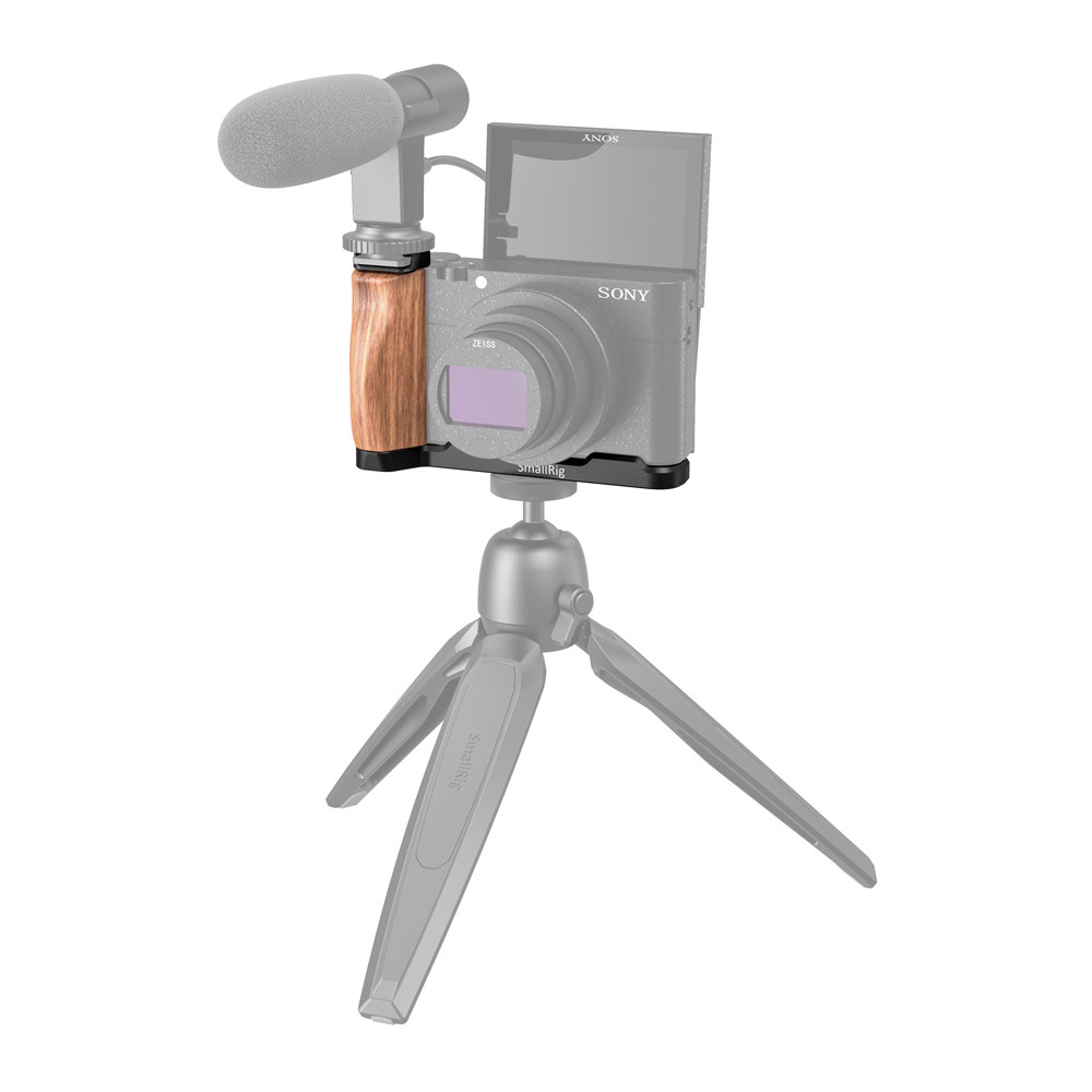 SmallRig L-Shaped Wooden Grip with Cold Shoe for Sony RX100 III/IV/V(VA)/VI/VII LCS2438