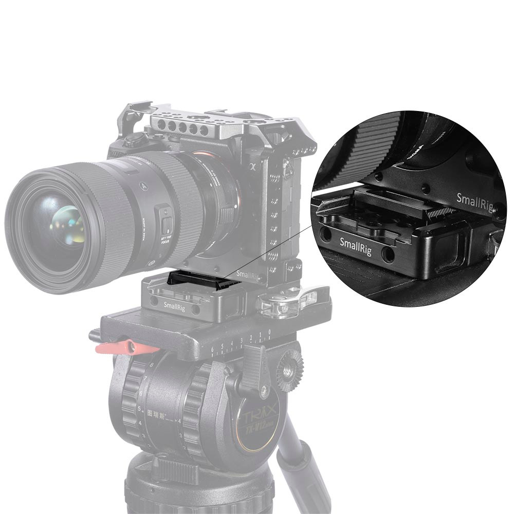 SmallRig Manfrotto 501PL-Type Quick Release Plate for Select SmallRig Cages APU2458