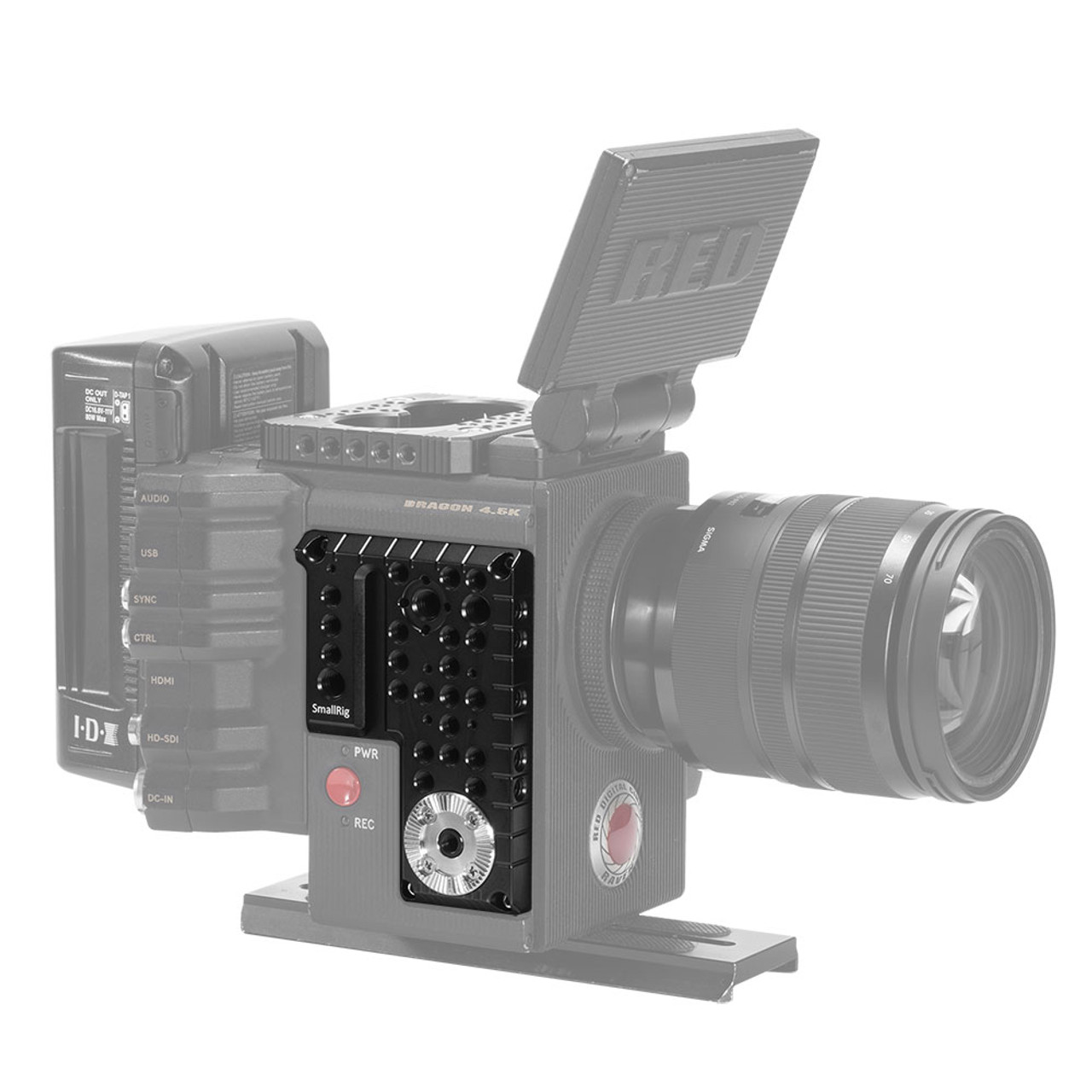 Red Digital Cinema Scarlet X Camcorder External Microphone Vidpro XM-AD5 Mini Pre-Amp Smart Mixer with Dual Condenser Microphones for DSLR/'s Video Cameras and Phones with SDC-26 Case