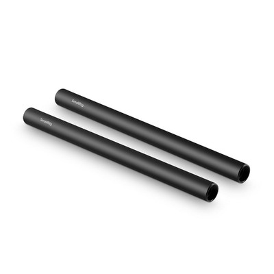 SmallRig 2pcs 15mm Black Aluminum Alloy Rod(M12-25cm) 10inch 1052