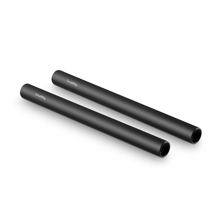 SmallRig 2pcs 15mm Black Aluminum Alloy Rod(M12-20cm) 8inch 1051