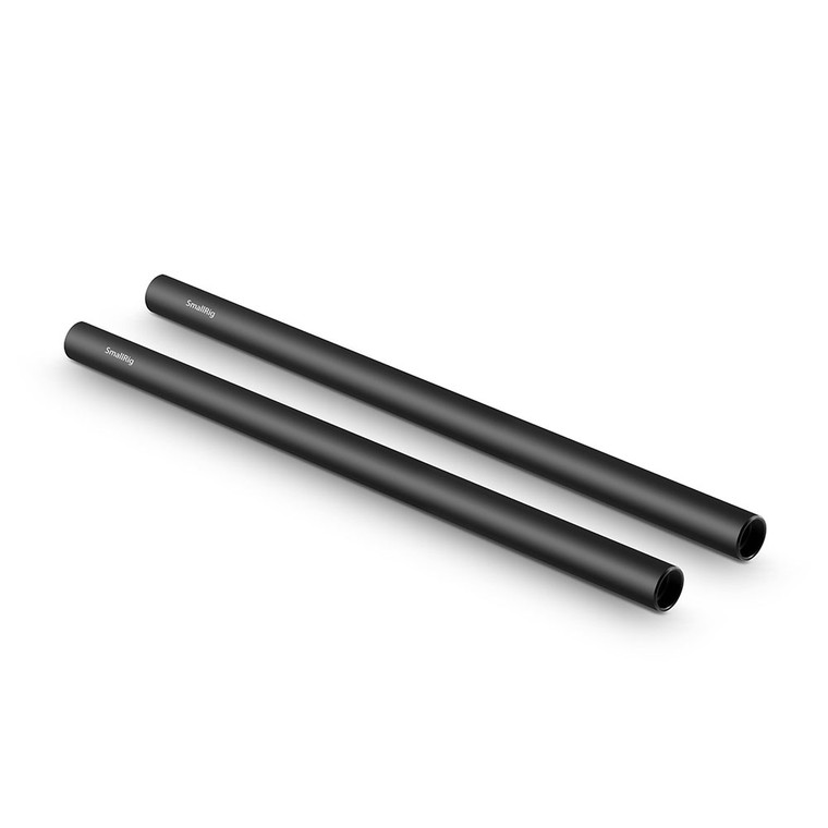 SmallRig 2pcs 15mm Black Aluminum Alloy Rod(M12-30cm) 12inch 1053