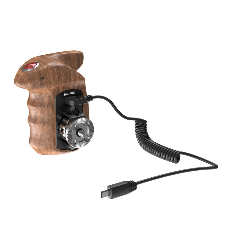 SmallRig Right Side Wooden Hand Grip with Record Start/Stop Remote Trigger for Sony Mirrorless Cameras HSR2511