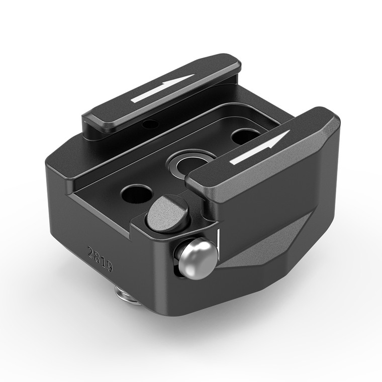 """SmallRig Rotatable Cold Shoe Mount Adapter (Two 1/4""""-20 Screws)2819"""
