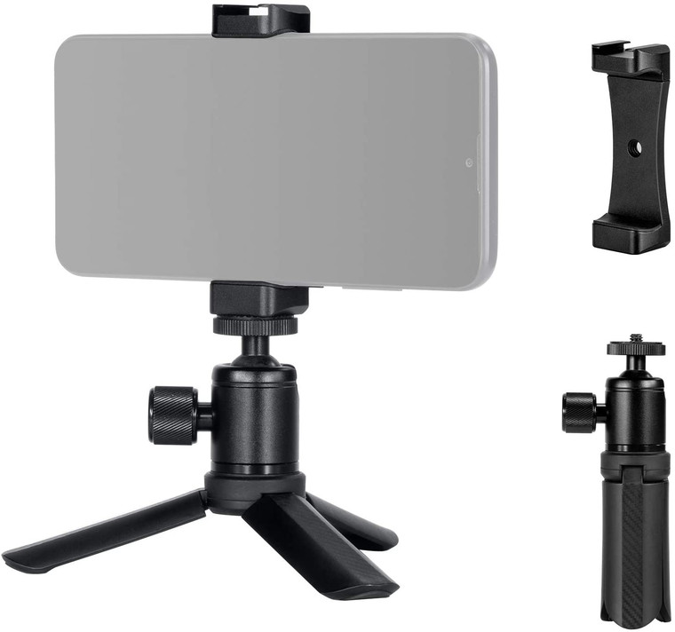 Mini Vlog Tripod with Cellphone Mount Adapter 2867