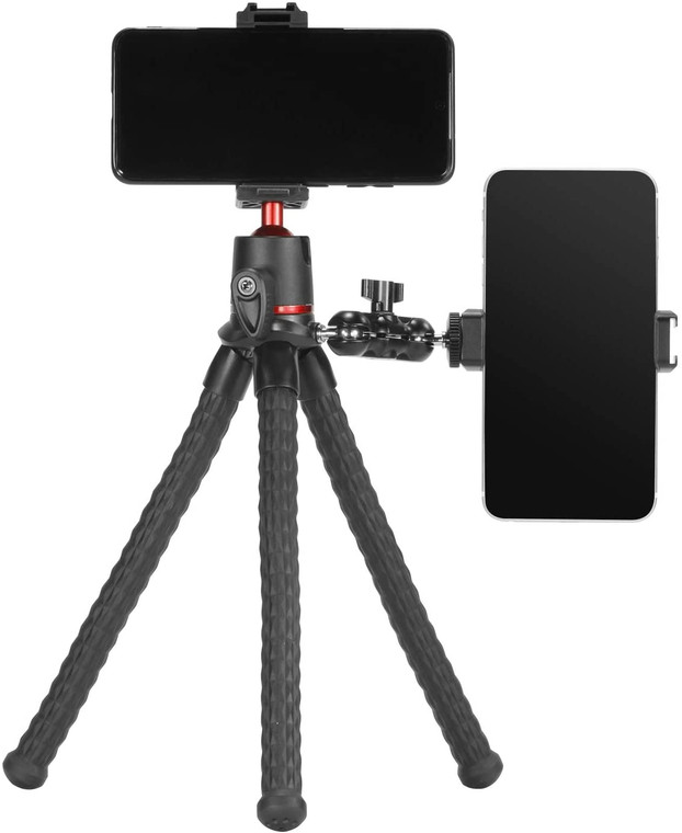 Flexible Tripod with Ball Head Arm and Smartphone Adapter 2871