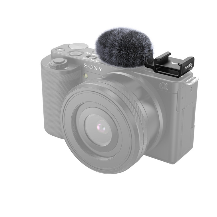 SmallRig Cold Shoe Adapter with Windshield for Sony ZV-E10 and ZV-1 3526-1