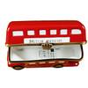 London Double Decker Bus W/Removable Ticket Rochard Limoges Box