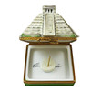 Mayan Pyramid With Removable Sundial Rochard Limoges Box