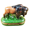 Limoges Imports Standing Buffalo Limoges Box