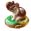 Limoges Imports Elephant With Trunk Up Limoges Box