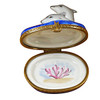 Limoges Imports 3 Dolphins Limoges Box