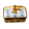 Limoges Imports Rectangle Box W/ Teddy Bear Limoges Box
