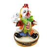 Limoges Imports Clown With Rabbit Limoges Box
