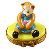 Limoges Imports Mini Bear On Yellow Base Limoges Box