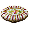 Limoges Imports Red Stripped Oval Limoges Box