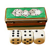 Limoges Imports Dice Box With Three Die Limoges Box