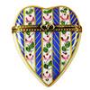 Limoges Imports Large Blue Heart Limoges Box