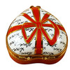Limoges Imports Heart W/Red Bow & 3 Candies Limoges Box