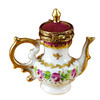 Limoges Imports Red Top Coffepot Limoges Box